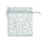 Organza Bags Silver Coloured Stars 10 Pack