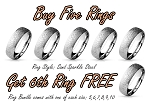 Ring Bundle - Sand Sparkle Steel