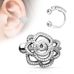 Rose Flower Ear Cuff (Non-Stainless Steel)