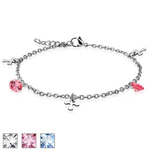 Cross Gem Charmed Bracelet/Anklet