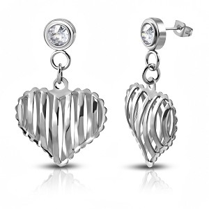 Caged Heart Earrings