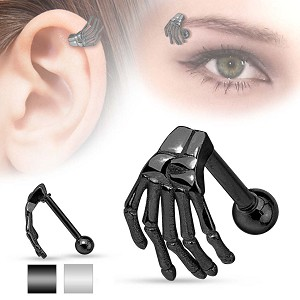 Skeleton Hand Eyebrow Ring