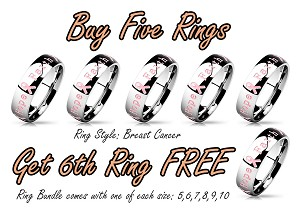 Ring Bundle - Breast Cancer