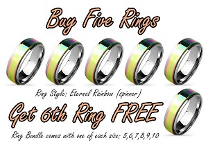 Ring Bundle - Eternal Rainbow