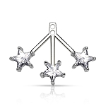 3 Star Earring BackDrop Pair (Non-Stainless Steel)