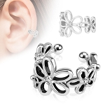 Flower Ear Cuff (Non-Stainless Steel)
