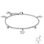 Star, Ball and Heart Charmed Bracelet/Anklet